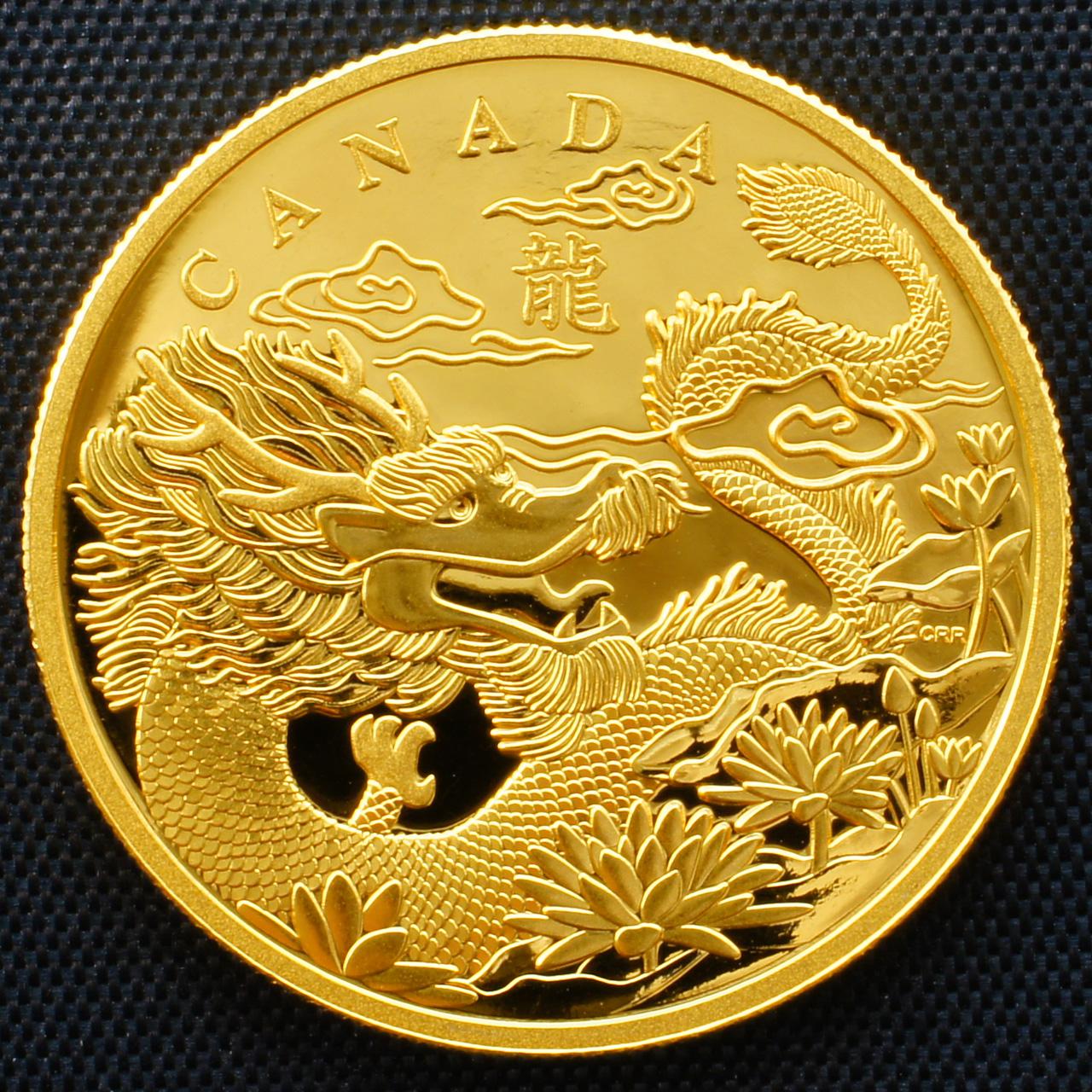 Box Of Glitter 2012 Canada Dragon Gold Set